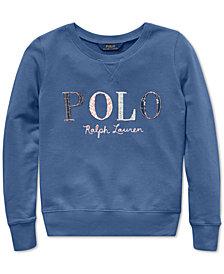 Polo Ralph Lauren Big Girls Logo Graphic Sweatshirt