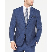 Ralph Lauren Men's UltraFlex Stretch Indigo Textured Suit Jacket