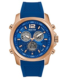 Men's Blue Silicone Watch 46mm