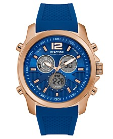 Kenneth Cole Reaction Men's Blue Silicone Watch 46mm