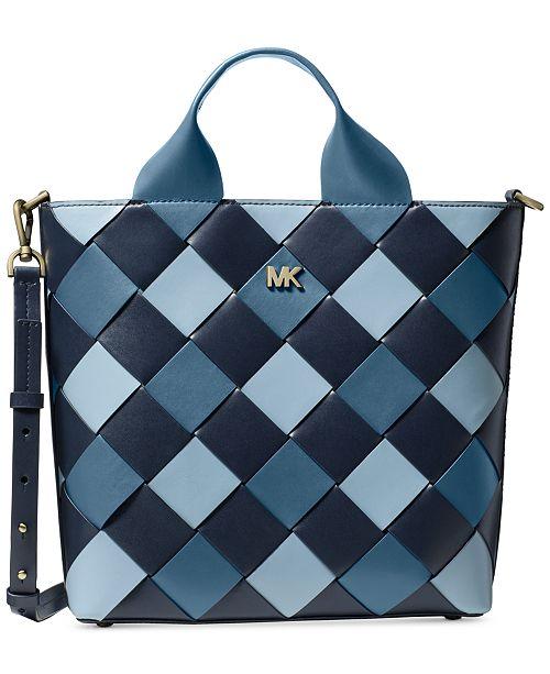 9f332224bb9a Michael Kors Mott Woven Leather Market Tote & Reviews - Handbags ...