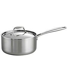 Gourmet Tri-Ply Clad 3 Qt Covered Sauce Pan