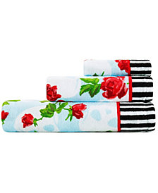 Betsey Johnson Skull Garden 100% Cotton 3-Pc. Towel Set