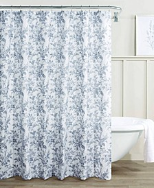 Annalise Floral 100% Cotton Shower Curtain