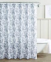 c508f00cb71 Laura Ashley Annalise Floral 100% Cotton Shower Curtain