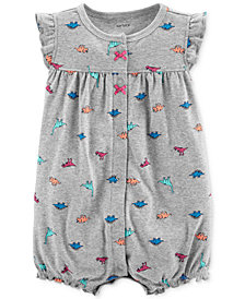 Carter's Baby Girls Cotton Dinosaur Romper