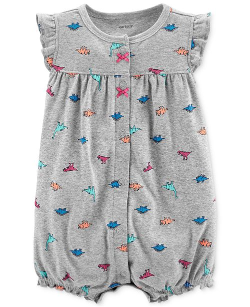 2576938a4428 Carter s Baby Girls Cotton Dinosaur Romper   Reviews - All Baby ...