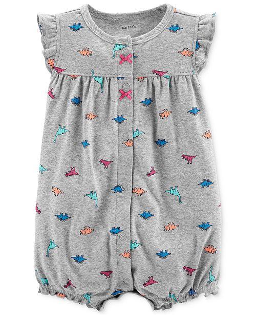 4722e8485 Carter's Baby Girls Cotton Dinosaur Romper & Reviews - All Baby ...