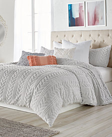 Peri Cable Knit Sherpa Twin Comforter Set
