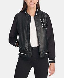 Levi's® Mixed-Media Varsity Bomber Jacket