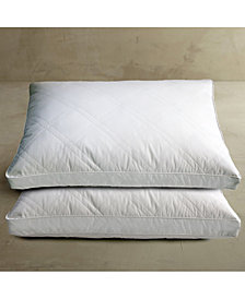 Blue Ridge 233 Thread Count 100% Cotton White Goose Feather Down 2-Pack of Pillows