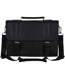 "Karino Leather Flap-over 15"" Computer Case Bag"