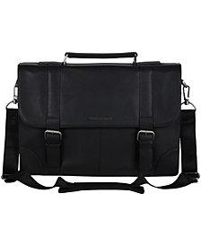 "Ben Sherman Karino Leather Flap-over 15"" Computer Case Bag"