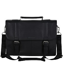 "Ben Sherman Karino Leather Flap-over 15"" Computer Case Bag"