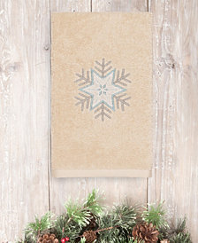 Linum Home Textiles Christmas Crystal - Embroidered Luxury 100% Turkish Cotton Hand Towel