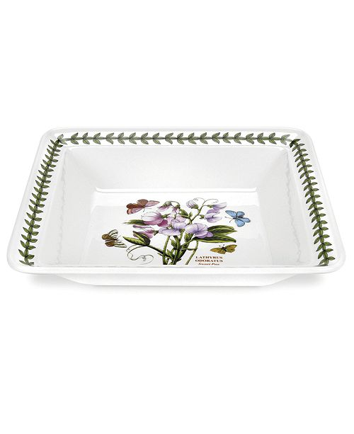 Portmeirion Botanic Garden Low Square Serving Bowl