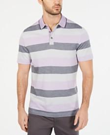 Tasso Elba Men's Striped Supima® Blend Stripe Polo, Created for Macy's
