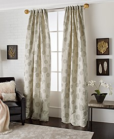 "50"" x 96"" Metallic Lily Pad Curtain Panel"