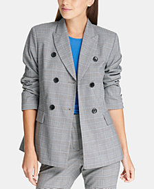 DKNY Plaid Double-Breasted Jacket, Created for Macy's