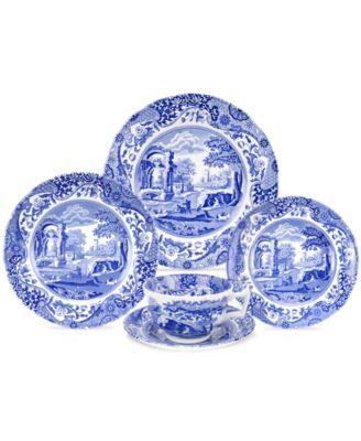Spode Dinnerware Blue Italian Collection  sc 1 st  Macy\u0027s & Spode Dinnerware Blue Italian Collection - Dinnerware - Dining ...