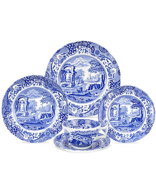 First Introduced In 1816 Spode S Blue Italian Dinnerware And Dishes Collection Has Graced Countless Tabletops With Its Quaint Country Scene Traditional