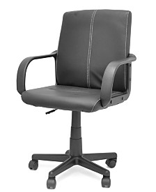 Urban Living Tufted Leather Mid Back Rolling Office Chair