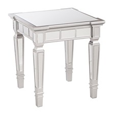Smyth Glam Mirrored Square End Table