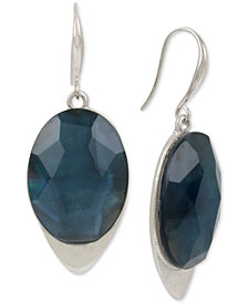 Robert Lee Morris Soho Silver-Tone Stone Drop Earrings