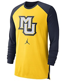 Nike Men's Marquette Golden Eagles Breathe Shooter Long Sleeve T-Shirt