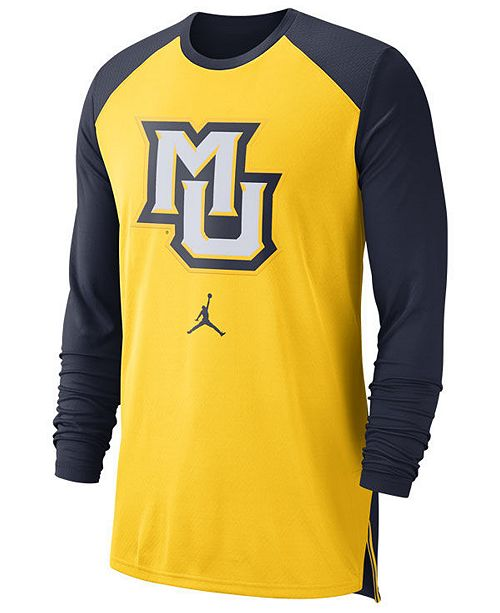 new arrival 85eee d71c9 Men's Marquette Golden Eagles Breathe Shooter Long Sleeve T-Shirt