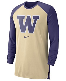 Nike Men's Washington Huskies Breathe Shooter Long Sleeve T-Shirt