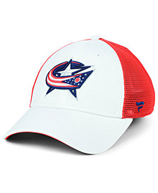 Authentic NHL Headwear Columbus Blue Jackets Tech Mesh Flex Stretch Fitted Cap