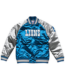 Mitchell & Ness Men's Detroit Lions Tough Season Satin Jacket