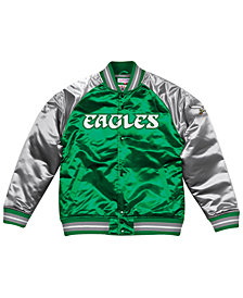 Mitchell & Ness Men's Philadelphia Eagles Tough Season Satin Jacket