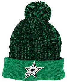 Authentic NHL Headwear Women's Dallas Stars Iconic Ace Knit Hat