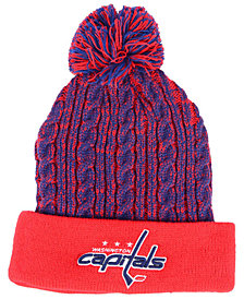 Authentic NHL Headwear Women's Washington Capitals Iconic Ace Knit Hat