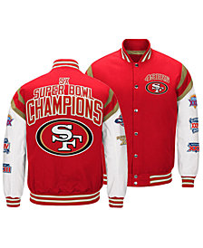 Authentic NFL Apparel Men's San Francisco 49ers Home Team Varsity Jacket