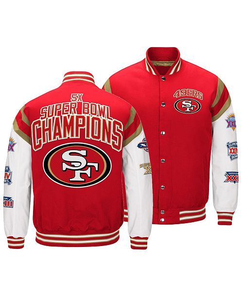 9eef1f6977f ... Authentic NFL Apparel Men s San Francisco 49ers Home Team Varsity  Jacket ...