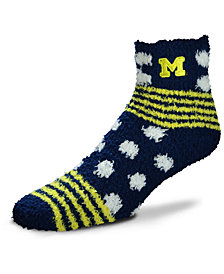 For Bare Feet Michigan Wolverines Homegater Sleep Soft Socks