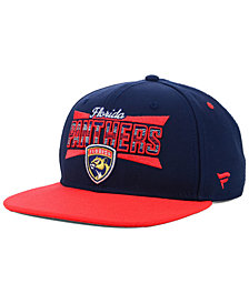Authentic NHL Headwear Florida Panthers Combo Emblem Snapback Cap