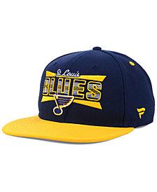 Authentic NHL Headwear St. Louis Blues Combo Emblem Snapback Cap