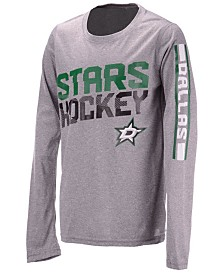 Outerstuff Dallas Stars Break Lines Long Sleeve T-Shirt, Big Boys (8-20)