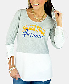 Gameday Couture Women's Golden State Warriors Embellished Tunic Top