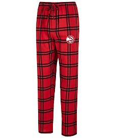 Concepts Sport Men's Atlanta Hawks Homestretch Flannel Sleep Pants