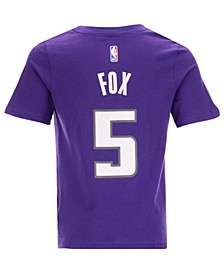 Nike DeAaron Fox Sacramento Kings Replica Name and Number T-Shirt, Little Boys (4-7)