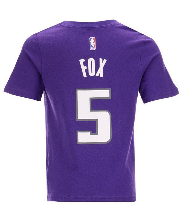 Outerstuff Nike DeAaron Fox Sacramento Kings Replica Name and Number T-Shirt, Little Boys (4-7)