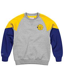 Mitchell & Ness Men's Golden State Warriors Trading Block Crew Sweatshirt