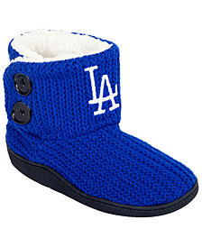 Forever Collectibles Women's Los Angeles Dodgers Knit Two Button Boots