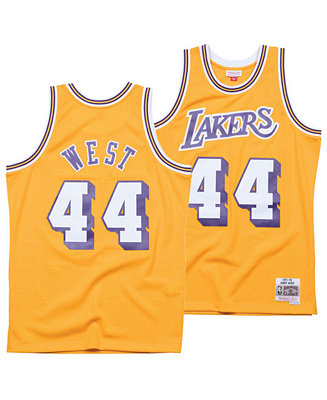 Mitchell & Ness Men's Jerry West Los Angeles Lakers Hardwood ...
