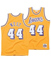 294e4daa56f Mitchell   Ness Men s Jerry West Los Angeles Lakers Hardwood Classic Swingman  Jersey